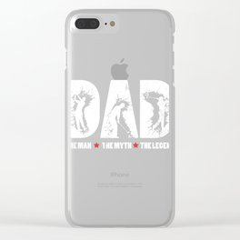 Mens Dad The Man The Myth The Golf Legend design Gift for Dads Clear iPhone Case
