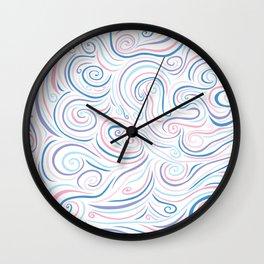Pastel Swirl Explosion Wall Clock