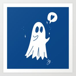 Ghost Hug Art Print
