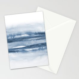 Indigo Clouds, Blue Abstract Art Stationery Cards
