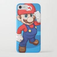 mario iPhone & iPod Cases featuring Mario by Ryan Ketley