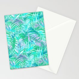 Green palm leafs Stationery Cards