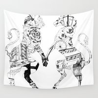 british Wall Tapestries featuring Everything British by Victoria-Samantha