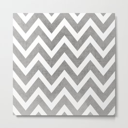 gray chevron Metal Print