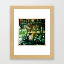 One of many carousels in France Framed Art Print