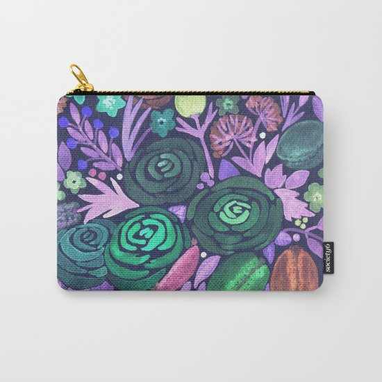 Watercolor . French cake in the colors . Carry-All Pouch