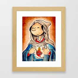 The Immaculate Heart of Olive Framed Art Print