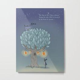 L'arbre à plumes Metal Print