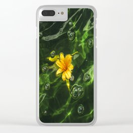 Flower Water Clear iPhone Case
