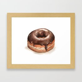 Chocolate Glazed Donut Framed Art Print