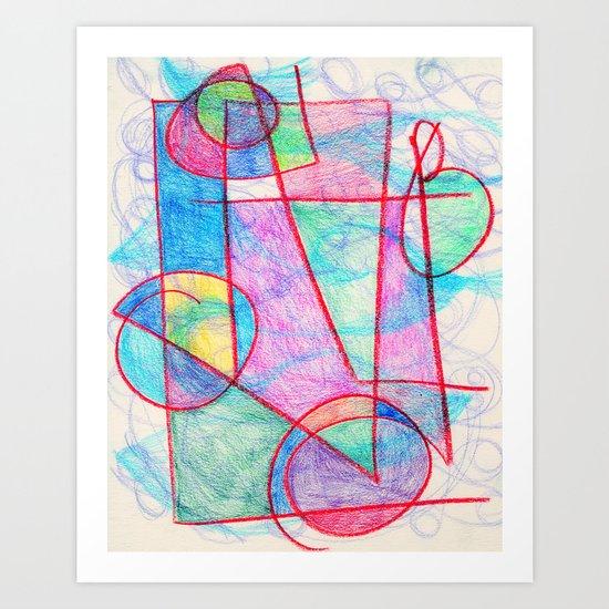 Pinks and Blues Art Print