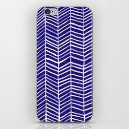Herringbone – Navy & White iPhone Skin