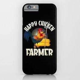 Happy Chicken Farmer iPhone Case