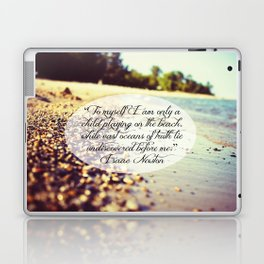Isaac Newton Beach Quote Laptop & iPad Skin