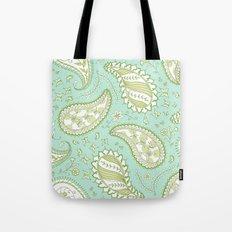 Pretty Paisley - Aqua/Green Tote Bag
