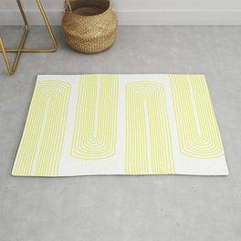 Minimalist, line art pattern, scandivian, modern minimal, sunny yellow Rug