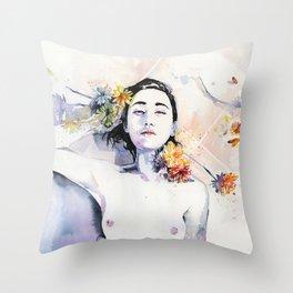 A new morning Throw Pillow