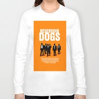 reservoir dogs Long Sleeve T-shirts featuring Reservoir Dogs Movie Poster by FunnyFaceArt