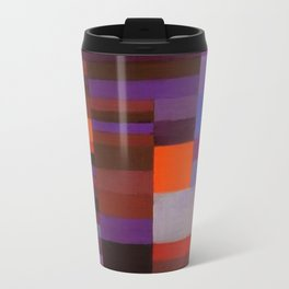 Paul Klee Fire In The Evening Colorful Abstract Art Travel Mug