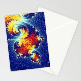 Fire in the Stars Mandelbrot Fractal Stationery Cards
