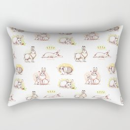 Сute bunny pattern Rectangular Pillow