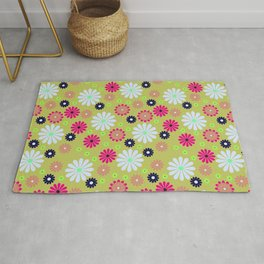 Flower colorful Rug