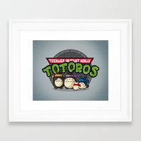 tmnt Framed Art Prints featuring TMNT by fishbiscuit