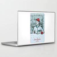 steve zissou Laptop & iPad Skins featuring The Life Aquatic with Steve Zissou by suPmön