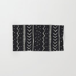 Moroccan Stripe in Black and White Hand & Bath Towel