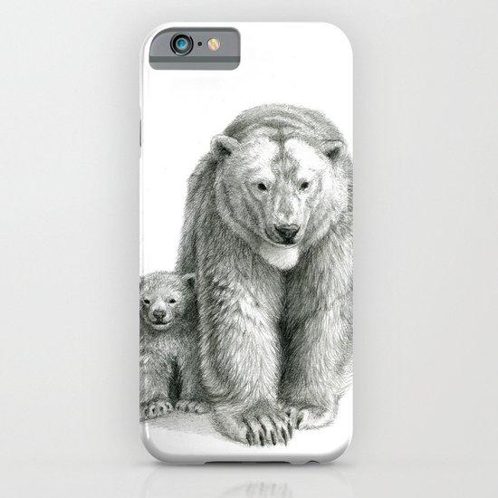 Polar bear and cub SK041 iPhone & iPod Case