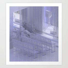 Interior #13 / Kultūras nams (Culture House) Art Print