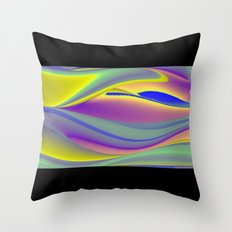 Abstract Rainbowart in retrostyle 10 Throw Pillow