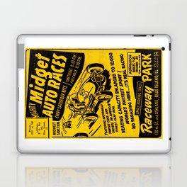 Midget Auto Races, Race poster, vintage poster Laptop & iPad Skin