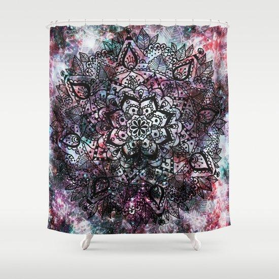 Intergalactic Mandala Shower Curtain