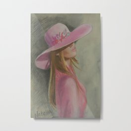 Lady in the hat Metal Print