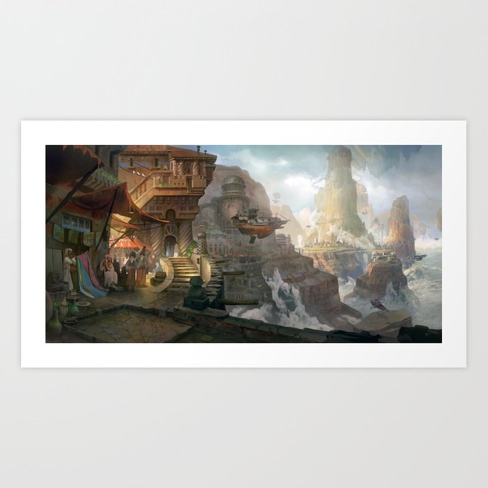 canyon city in the clouds Art Print
