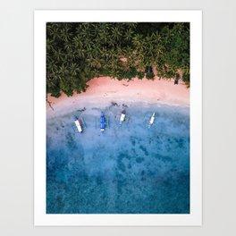 Aerial: El Nido Beach Art Print