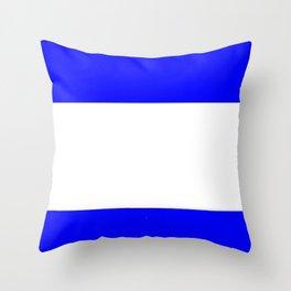 Flag of salvador 4 - salvador,Salvadoran,San Salvador,salvadoreño,Guanaco. Throw Pillow