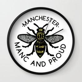 Manchester Bee Worker Bee Wall Clock