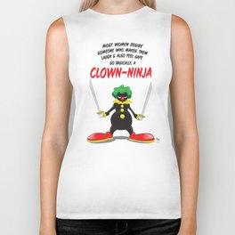 ...So Basically, a Clown-Ninja! Biker Tank