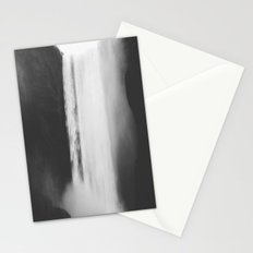 Black waterfall Stationery Cards