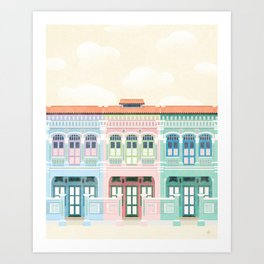 Singapore Shophouses Art Print