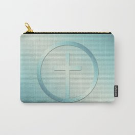 Retro Cross Emblem Graphic Carry-All Pouch