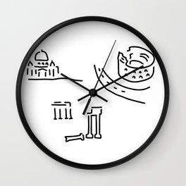 Rome kolloseum Peter's cathedral forum Wall Clock