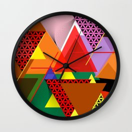 Colores 015Triangles Wall Clock