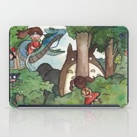studio ghibli iPad Cases featuring Studio Ghibli Crossover by malipi