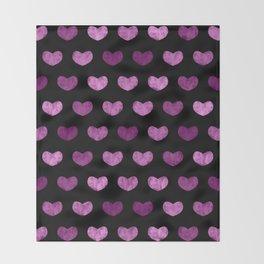 Colorful Cute Hearts VI Throw Blanket