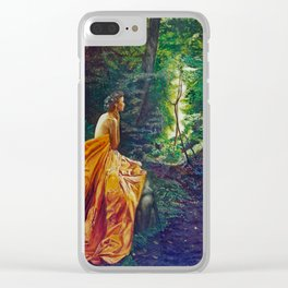 Waiting in the forest Clear iPhone Case