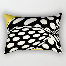 Wavy Dots on Yellow Rectangular Pillow