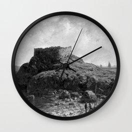 Fort Dumpling, Jamestown, Rhode Island, Narragansett Bay by George L. Clough Wall Clock